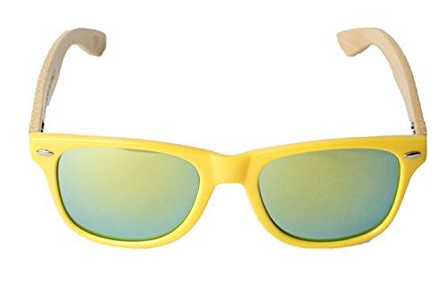 certificados modelo de Italia de Vento Marco bambú Gafas CE protección diseñadas madera amp;Green UV400 sol Yellow amarillo lentes Eyewear® con de y Chinook verdes en a5xw8Ap5q