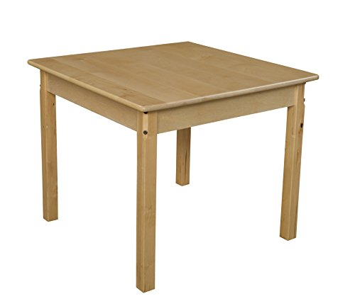 Wood Designs WD83324 Child's Table, 30″ Square with 24″ Legs