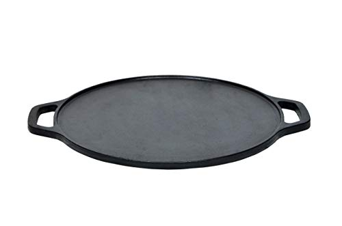 Embassy-Premium-Cast-Iron-Flat-Dosa-TawaGriddle-Pre-Seasoned-Cookware-12-Inches-30-Cms