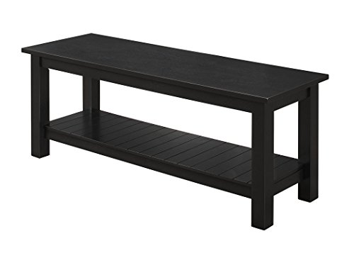 WE Country Style Entry Bench Black