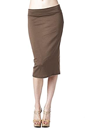 82 Days Women'S Ponte Roma Regular To Plus Below Knee Pencil Skirt ...