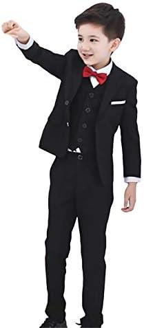 ボーイズプロムパーティーのためのスーツ3ピース2ボタンスリムフィットジャケットズボンベスト