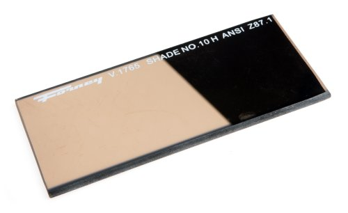 Gold Welding Lens - Forney 57061 Lens Replacement Gold Welding Filter, 2-Inch-by-4-1/4-Inch, Shade-10