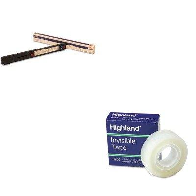 41708210 Ribbon - KITMMM6200341296OKI41708210 - Value Kit - Oki 41708210 Ribbon (OKI41708210) and Highland Invisible Permanent Mending Tape (MMM6200341296)