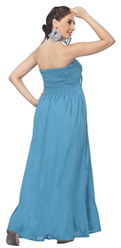 Buy light blue and brown bridesmaid dresses - 1