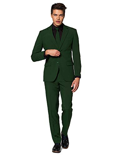 Mens Opposuits Green Suit - OppoSuits - Glorious Green - Solid