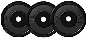 Matters of the Cart Warrior 160 lb Weight Set Olympic Rubber Bumper Plates for Crossfit Powerlifting