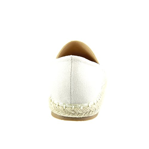 Angkorly 5 Ohne Espadrilles Flacher Schuhe cm mit 2 Damenmode Verschluss Absatz Schwarz Streifen pqrpUvg