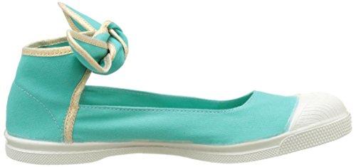 Bensimon Tennis Flo Shinypiping - Botas Mujer Turquesa (Turquoise)