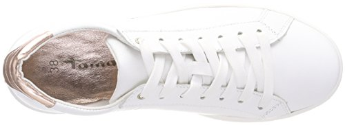 23631 rose Tamaris white Met Femme Basses Blanc Sneakers p66qCw