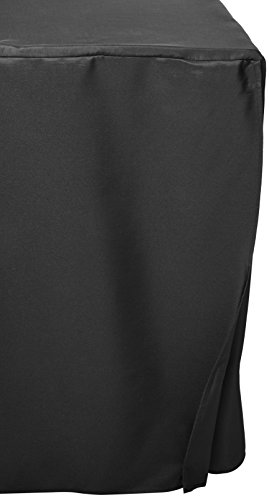 Folding Table Cover, Fitted Tablecloth For 6 Foot Folding Table, Black