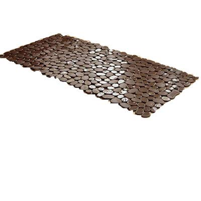 Mitef Non-Slip Square Opaque PVC River Rock Mat Hollow Cobblestone Design Bath and - River Rock Designs