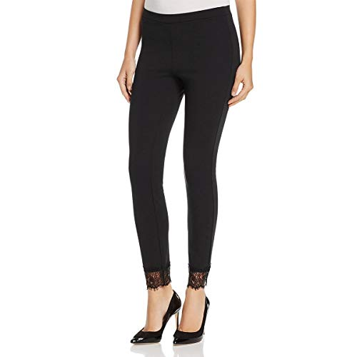 MICHAEL Michael Kors Womens Stretch Lace-Cuff Casual Pants Black S