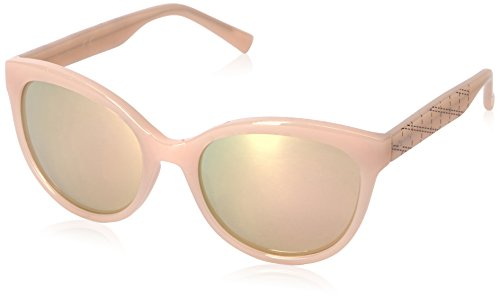 Calvin Klein Women's R735S Round Sunglasses, Milky Blush, 58 mm