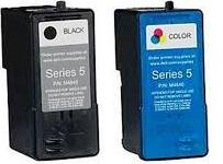Dell Genuine Series 5 (J5567 & J5566) Color and Black Inkjet Set.
