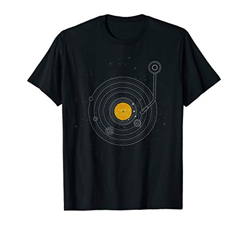 Vinyl Record Solar System Space Science T-Shirt