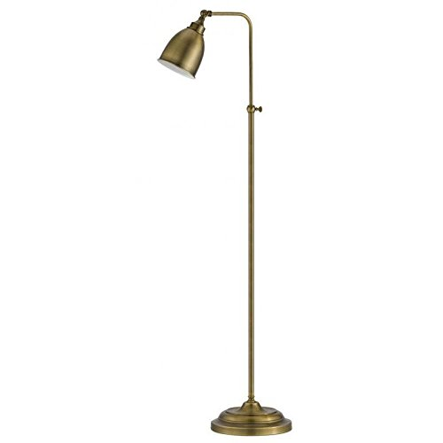 Cal Lighting Metal Floor Lamp in Antique Brass