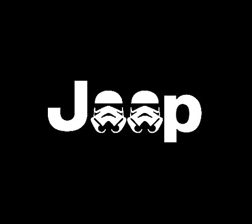 Jeep Storm Trooper Star Wars Decal Vinyl Sticker|Cars Trucks Vans Walls Laptop| White |5.5 x 2.5 in|LLI347