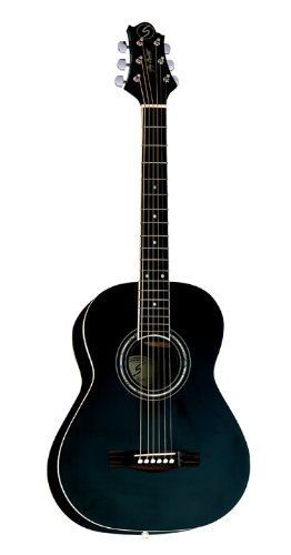 Greg Bennett Design Gold rush ST61 BLK 36-Inch Folk Acoustic Guitar, Black by Greg Bennett Design