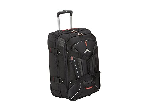 High Sierra 57018-1041 AT7 Rolling Upright Duffel Bag, Black, 22-Inch ()