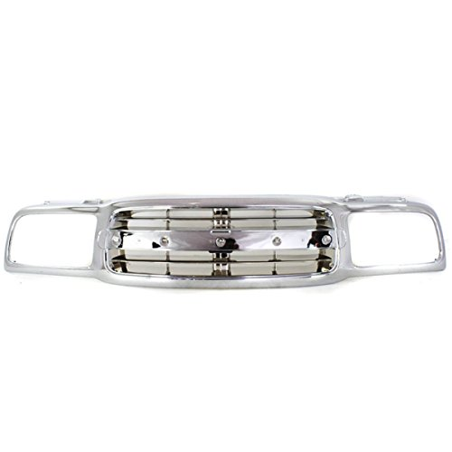 (Koolzap For 99-04 Chevy Tracker Front Grill Grille Assembly Chrome Shell GM1200464 91176398)