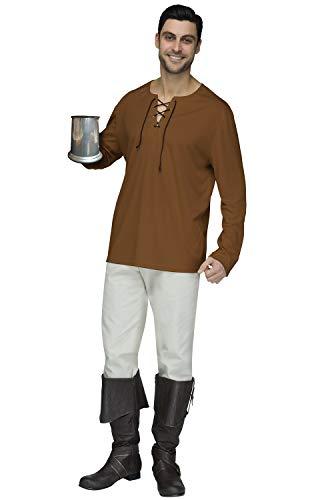 Fun World Mens Brown Peasant Shirt Adult Size, Standard]()
