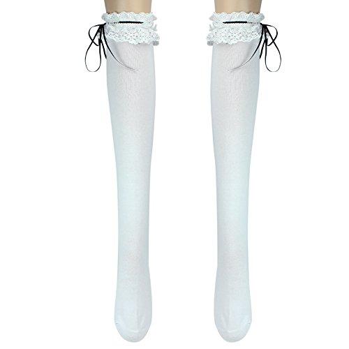 72e95880b Ribbon Stockings Thigh Highs Lolita Cosplay product image
