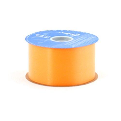 2-3/4-Inch Wide by 100-Yard Spool Flora Satin Craft Ribbon, Tropical Orange Pkg/12 by Berwick