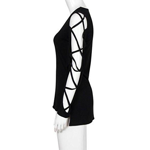 Club Sexy Shirt Hollow Sleeve, Keepfit Women V Neck Casual Blouse Tops Fashion Nova