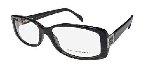 Donna Karan Frame (Donna Karan 1563-B Womens/Ladies Designer Full-rim Strass Spring Hinges Eyeglasses/Spectacles (53-15-135, Glitter Black))