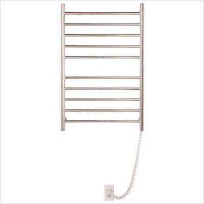 Myson WPRL10M Wall Mount 10 Bar Matte Stainless Steel Pearl Towel Warmer