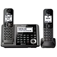Panasonic KX-TGF372M Link2Cell-Bluetooth 2 Cordless Phones w Answering Machine (Certified Refurbished)