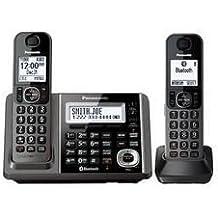 Panasonic KX-TGF372M Link2Cell-Bluetooth 2 Cordless Phones w Answering Machine (Certified Refurbished)
