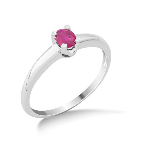 Miore - MG9129R6 - Bague Femme - Or Blanc 375/1000 (9 Cts) 1.61 Gr - Rubis