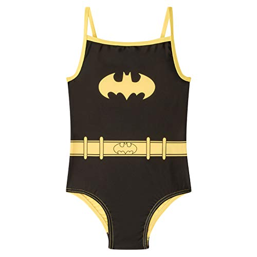 DC Comics Batman Official Gift Girls Kids Swim Suit Costume Black 3-4 Years -