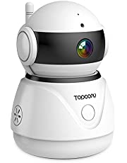 Topcony WiFi IP Camera 1080P Wireless Home Security Surveillance Indoor CCTV Camera Baby/Elder/Pet/Nanny Monitor, Pan/Tilt/Zoom, Motion Detect Alert, Two-Way Audio, Cloud Storage, SD Card Storage