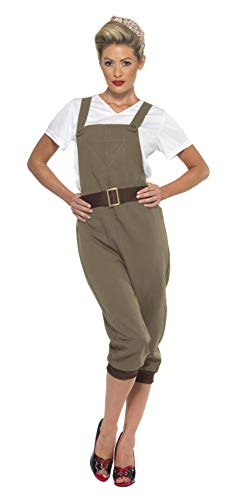 Smiffys Women's Ww2 Land Girl Costume, Khaki, X-Large]()