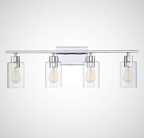 Savoy House 8-2149-4-11 Lambert 4-Light Bathroom Vanity Light in Polished Chrome with Clear Glass (31