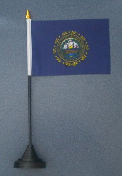 Letscollect-It New Hampshire Us State Desk Table Top Flag