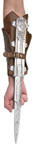 (Palamon Men's Assassin's Creed Ezio Bladed Gauntlet Costume, Brown, One)
