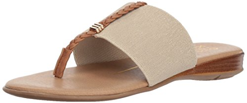 XOXO Women's Brecken Flat Sandal, Gold, M050 M US
