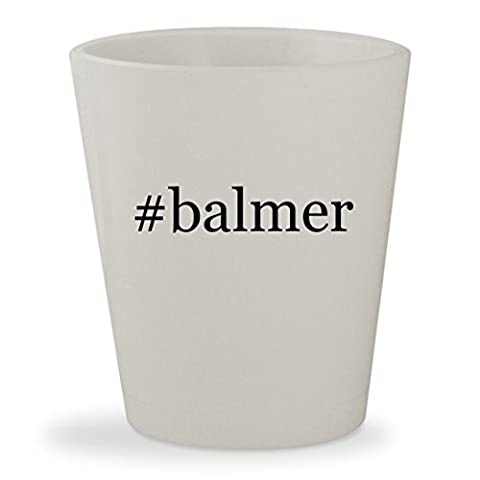 #balmer - White Hashtag Ceramic 1.5oz Shot Glass (Balmer Swiss Noble Watch)