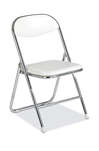 Klappstuhl Stuhl Kunstleder weiß Belise
