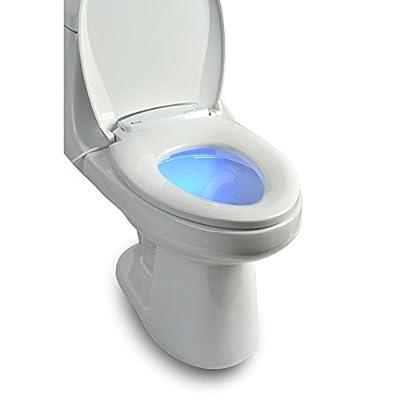 Brondell L60-EW LumaWarm Heated Nightlight Elongated Toilet Seat, White