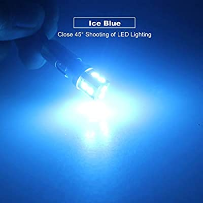 DODOFUN T10 Extra Bright Ice Blue Car Interior Exterior Replacement Bulb 168 175 194 2825 W5W etc. Size Map Dome Door LED Light 12V ~ 24V (Pack of 4): Automotive