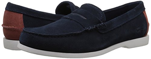 Lacoste Men's Navire Penny 216 1 Slip-On Loafer, Navy, 9.5 M US by Lacoste (Image #6)