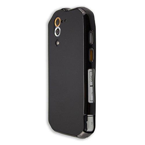 caseroxx TPU-Case and Screen Protector for Cat S60, Set (TPU-Case in Black)
