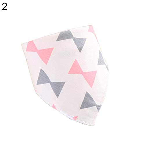 (yuye-xthriv Newborn Baby Bib Double Layers Waterproof Flower Star Triangle Collar Bandana 2#)