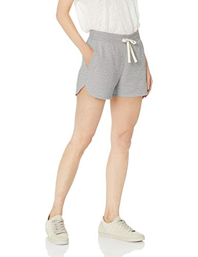 (Amazon Essentials Women's French Terry Fleece Short Shorts, -light grey heather, X-Large)