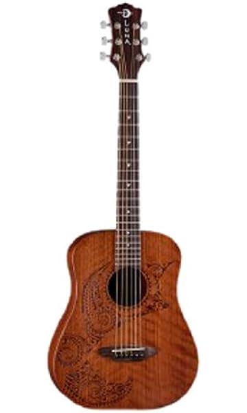 377a0349cb Amazon.com: Luna Safari Bamboo Acoustic Travel Guitar with Gig Bag ...